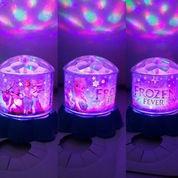 LAMPU PROYEKTOR FROZEN - HELLO KITTY - DORAEMON ( ROTATE / BERPUTAR )