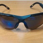 safety glass Blue mirror impact resistant,kacamata safety