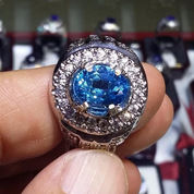 CINCIN BATU PERMATA NATURAL BLUE TOPAZ 3358