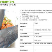 Hand Protection Gentle Touch Vynil ruberek VNL 1,sarung tangan,