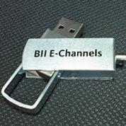 USB flashdrive metal swivel 4GB