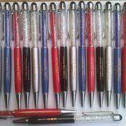 Souvenir Pen Metal Grafir Kristal stylus