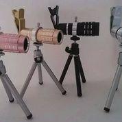 lensa Tele zoom teropong handphone 12x ada tripon
