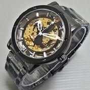 Jam tangan otomatis ferari calavera hitam (rantai)