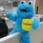 Boneka Monster Cookies Blue serial kartun TV kabel Sesame Street SNI murmer