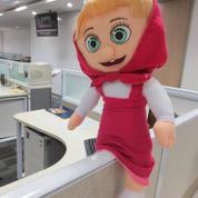 Boneka Si Marsha film serial kartun Marsha & The Bear grade super ORI SNI murmer