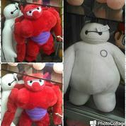 Boneka film kartun Baymax Putih Bighero Merah grade super ORI SNI gress murmer ecer & grosiran