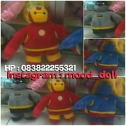 Boneka Baymax Big Hero Karakter Superhero Superman Batman & Ironman SNI