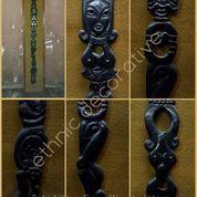 Relief Kayu Figur Wanita Hitam Karya Maestro Tatang Ganar