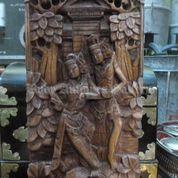 Relief Rama Shinta Ukiran 3D Kayu Suar # 18