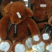 Boneka karakter beruang coklat/teddy bear Mr. Bean grade super ORI SNI