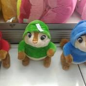 Boneka mainan anak karakter SiTupai cerdas Alvin and The Chipmunks SNI