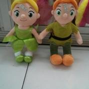 Boneka karakter film kartun Siperi & Sianak ajaib Twinkle Bell & Peterpan