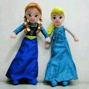 BonekaMainan anak bordir tokoh filmkartun Frozen princess Ana&Elsa SNI