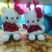 Boneka tokoh film kartun jepang HELLO KITTY spt Peri ada tongkat & sayap