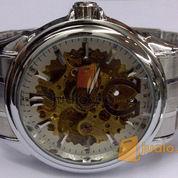 Jam tangan Otomatis skeleton omega (white) Rantai
