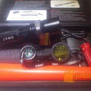 Senter police zoom Swat double lensa kuning (5 mode)/ Harga 1 pcs,tanpa minimal order