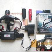 Senter Kepala headlamp led zoom, 1 batree 18650