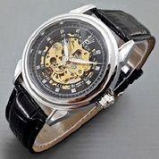 jam tangan otomatis rolex leather full black type 5 leather