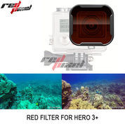 GOPRO RED FILTER SNAP-ON FOR HERO 3+ / HERO 4