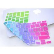 Rainbow Color Silikon Keyboard Cover Protector Skin Macbook Air pro 13