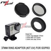 37MM RING ADAPTER KIT (UV) FOR HERO GOPRO 3 /3+