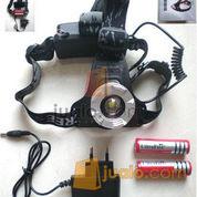 Headlamp Senter Kepala T6 Zoom (2batere)