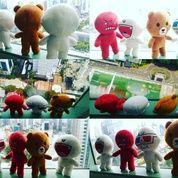 Boneka mainan anak karakter emoticon/emote icon aplikasi chat/messenger Line Si Brownie Bear Brown & Cony White SNI NEW murmer export quality