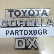 1 Set Emblem Bagasi Logo Tulisan Toyota Corolla DX - Import Quality