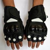 Sarung Tangan Kulit Half Protector Ready Stock Siap Dipaketkan