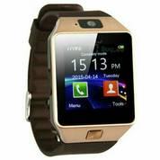 Jam Tangan Android Onix Cognos Smartwatch DZ09 - GSM Sim Card - GOLD BROWN - Strap Karet
