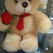 "Bear juju tie with flower 16"" inci 41cm"