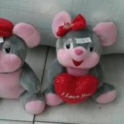 "Fancy mouse b/g 10"" inchi 26cm with love and flower"