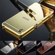 Alumunium Bumper + Backdoor Slide Mirror Sony Xperia Z3