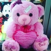 Boneka Baby bear pink with love ukuran L 40cm