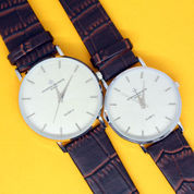 JAM TANGAN KALEP KULIT COUPLE WATCH GROSIR CKO562