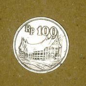 Koin Rp. 100,- Tebal emisi Tahun 1973