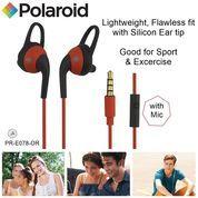 Polaroid Earphone Sports with ear tip & mic, stereo headset E078-OR