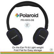 Polaroid headphone On Ear w/ light weight,soft ear pad headset H003-DB