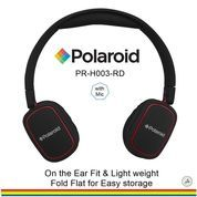 Polaroid headphone On Ear w/ light weight,soft ear pad headset H003-RD
