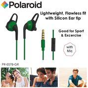 Polaroid Earphone Sports with ear tip & mic, stereo headset E078-GR