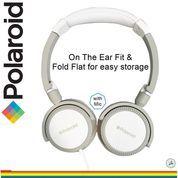 Polaroid headphone with foldable & soft ear pad on ear headset H096-GY