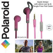 Polaroid Earphone Sports w/ ear tip & flat cable stereo headset E495PK