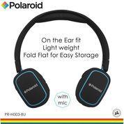 Polaroid headphone On Ear w/ light weight,soft ear pad headset H003-BU