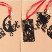 Pembatas Buku/ Bookmark Kucing Hitam Besi