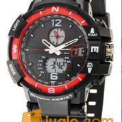 Jam tangan sport tetonis 29 original Rp.185.000,- -Tahan Air 30 Meter -tangal -hari -Alarm -double time (analog digital) -Mesin Batre -diameter 4.5Cm