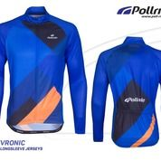 JERSEY SEPEDA POL! - CHEVRONIC BLUE LONG SLEEVES