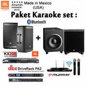 """Paket Karaoke """"JBL Complite Wireless+JBL Subwoofer Profesional"""