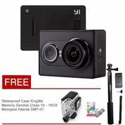 Xiaomi Yi Camera - Black + Wp Kingma + Memory Sandisk 16Gb + Monopod Attanta SMP-07