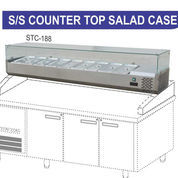 PIZZA TOPPING AND SALAD DISPLAY STC-188
